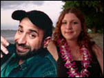 Photoshop magic: Ilana Urbach and Dave Attell